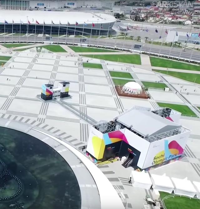 Центральная площадь Олимпийского парка